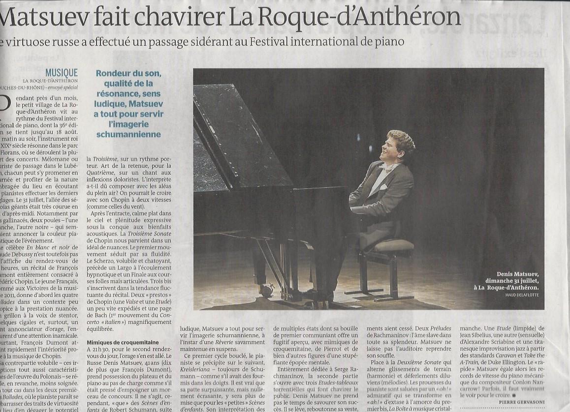 DM - Le Monde Juillet 2016 - La Roque